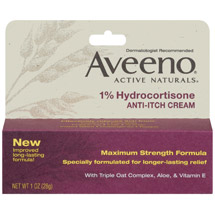 Aveeno Anti-Itch 1% Hydrocortisone Anti-Itch Cream Tube 1 oz.