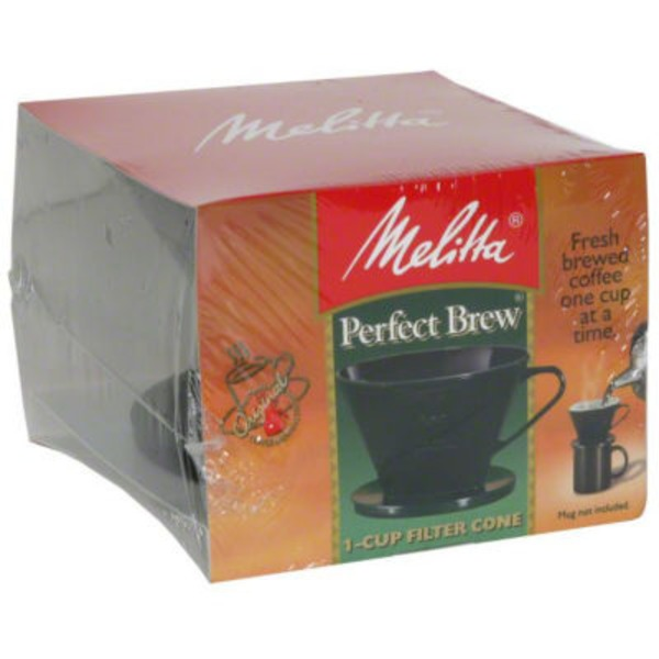 Melitta Single Cup Pour-Over Brewer Black Coffee Maker