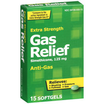 PL Developments Extra Strength Gas Relief 125mg Softgels