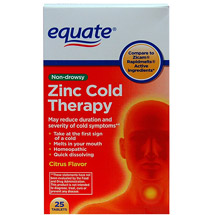 Equate Zinc Cold Therapy Citrus Flavor Tablets