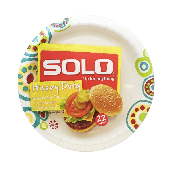 Solo Heavy Duty Decorated Paper Plate  sc 1 st  Burpy & Kroger Solo Heavy Duty Decorated Paper Plate Delivery Online in ...