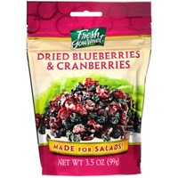 Fresh Gourmet Dried Blueberries & Cranberries