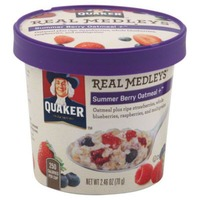 Quaker Real Medleys Summer Berry Flavor Oatmeal + Instant Oats Hot Cereal