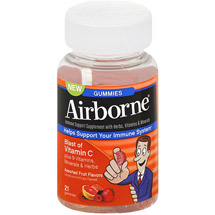 Airborne Immune Support Supplement with Vitamin C Gummies