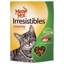 Meow Mix Irresistibles Cat Treats Crunchy with Tuna & Shrimp