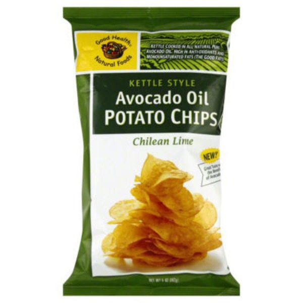 Good Health Natural Foods Kettle Style Avocado Oil Potato Chips Chilean Lime