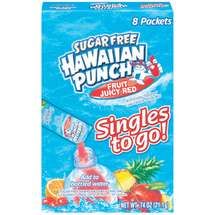 Hawaiian Punch Singles Fruit Juicy Red Drink Mix