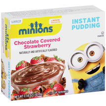 Minions Chocolate Covered Strawberry Instant Pudding