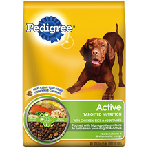 Pedigree Active Nutrition Dog Food with Chicken Rice & Vegetables