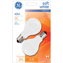 GE soft white 40 watt A15
