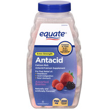 Equate Extra Strength Antacid/Calcium Supplement Chewable Tablets
