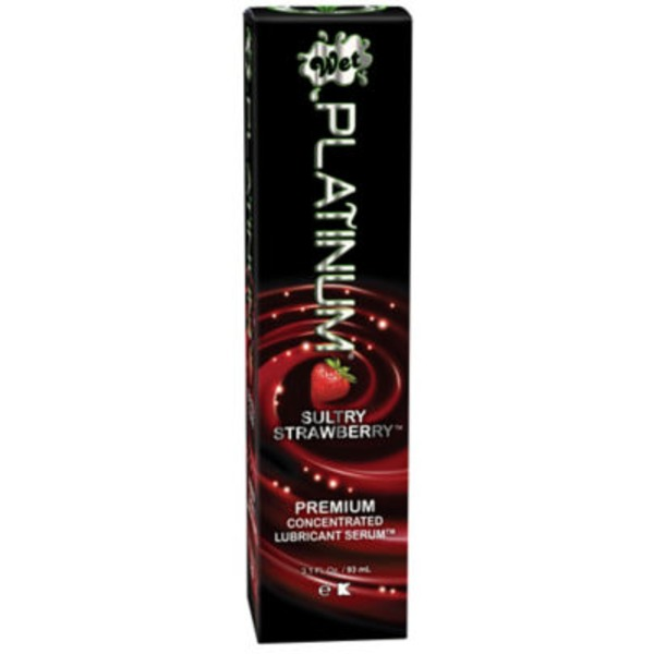 Wet Platinum Premium Concentrated Sultry Strawberry Lubricant Serum