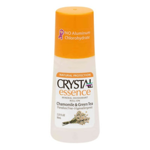 Crystal Essence Mineral Deodorant Roll-On Chamomile Green Tea