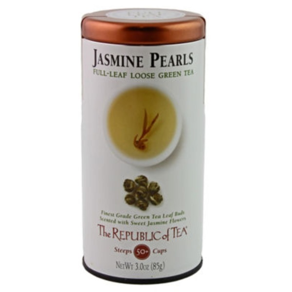 The Republic of Tea Jasmine Pearls Full Leaf Loose Green Tea