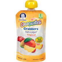 Gerber Graduates Grabbers Tropical Fruit & Yogurt