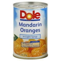 Dole Canned Fruit In Light Syrup Mandarin Oranges