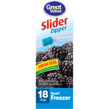 Great Value Zip Close Quart Size Freezer Bags