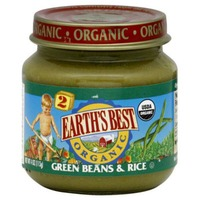 Earth's Best Organic Green Beans And Brown Rice Stage 2 Baby Food