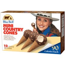Blue Bell Vanilla Mini Country Cones