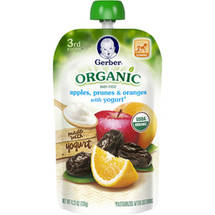 Gerber 3rd Foods Organic Apples Prunes & Oranges with Yogurt Baby Food