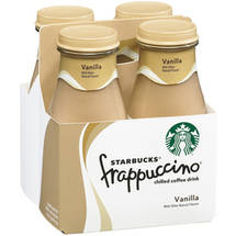 Starbucks Vanilla Frappuccino Coffee Drink 4 Ct/38 Fl Oz