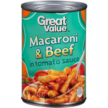 Great Value  Macaroni & Beef