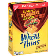 Nabisco Wheat Thins Baked Snack Crackers Sundried Tomato & Basil Family Size