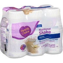 Parent's Choice Vanilla Nutritional Shake