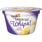 Yoplait Greek 100 Calories Whips! Coconut Macaroon Fat Free Yogurt Mousse