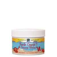 Nordic Naturals Omega 3 Gummy Worms Strawberry