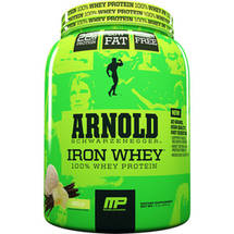 MusclePharm Arnold Schwarzenegger Iron Whey 100% Whey Protein Vanilla Dietary Supplement