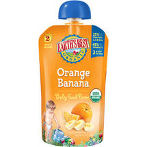 Earth's Best Second Foods Orange Banana Baby Food Puree