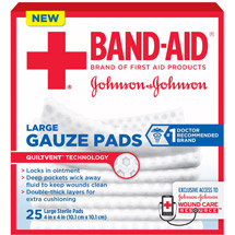 Band-Aid Sterile Gauze Pads Large