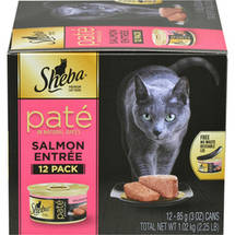 Sheba Pate in Natural Juices Salmon Entree Cat Food 12