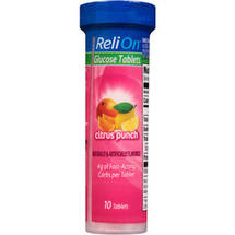 ReliOn Citrus Punch Glucose Tablets