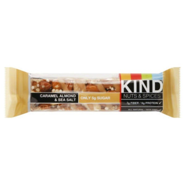 Kind Nuts & Spices Caramel Almond & Sea Salt Snack Bar