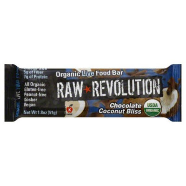 Raw Revolution Organic Live Food Bar Chocolate Coconut Bliss