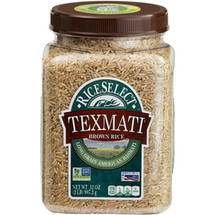 RiceSele ct Texmati Long Grain American Basmati Brown Rice