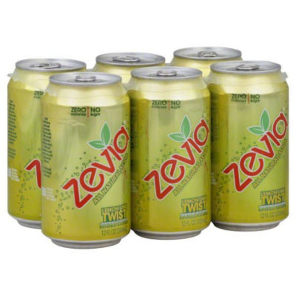 Zevia Zero Calorie Lemon Lime Twist Soda