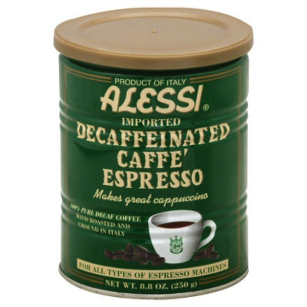 Alessi 100% Pure Coffee Caffe Espresso Decaffeinated