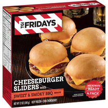 T.G.I. Friday's Cheeseburger Sliders with Sweet & Smoky BBQ Sauce