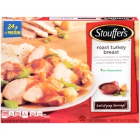 Stouffer's Satisfying Servings Turkey medallions & stuffing in a homestyle gravy with Russet mashed potatoes Roast Turkey Breast