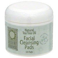 Desert Essence Natural Tea Tree Oil Facial Cleansing Pads - Original - 50 CT