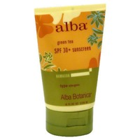 Alba Botanica Hawaiian Sunscreen Revitalizing Green Tea, SPF 45 Broad Spectrum