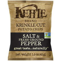 Kettle Foods Salt & Fresh Ground Pepper Krinkle Cut Potato Chips