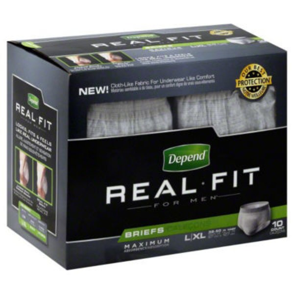 Depend Real Fit for Men L/XL Briefs