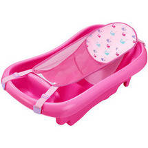The First Years Newborn-to-Toddler Tub with Sling Pink