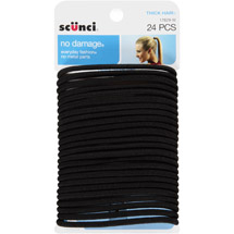scunci No Damage Thick Hair Ponytail Holders