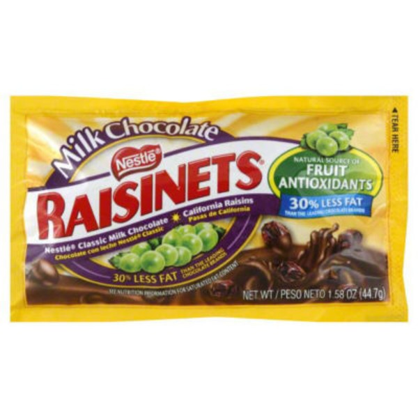 Raisinets Sun-Ripened, Plump Juicy California Raisins Tucked in Rich, Creamy Milk Chocolate Milk Chocolate Covered Raisins