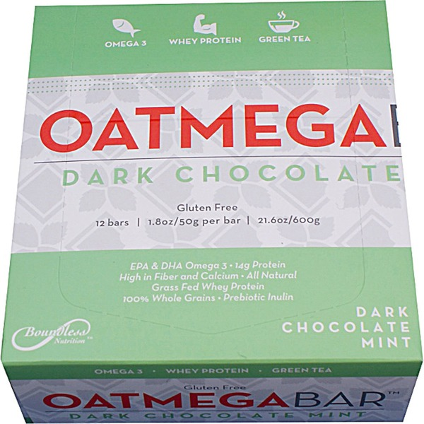 Oatmega Dark Chocolate Mint Bars